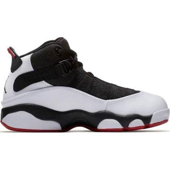 e4e6214bb1a1 sale right view of boys toddler air jordan 6 rings basketball shoes in  white black 84d82 4212c  coupon boys preschool jordan 6 rings 7d6b9 6e0ef